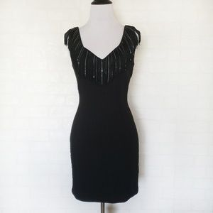 LaROK Black Chain Fringe Dress